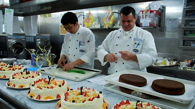 Culinary department on a cruise ship